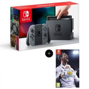 Pack Nintendo Switch Grise + FIFA 18