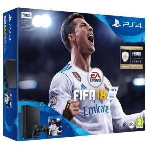 PS4 Noire 500 Go + FIFA 18