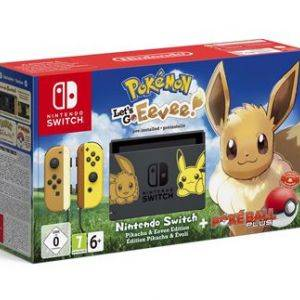 Nintendo Switch Pokemon Let's Go Evoli ! Edition Pikachu et evoli