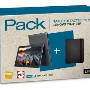 Pack TAB 10 X103F + etui folio noir