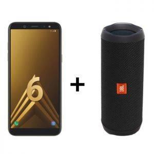 Samsung Galaxy A6+ Or + Enceinte JBL Flip 4 noir