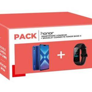 Pack Honor 8X 64 Go Bleu + Bracelet connecte Band 4