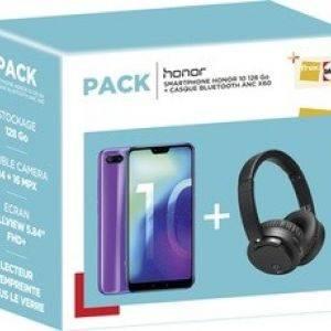Honor 10 128Go + Casque Bluetooth