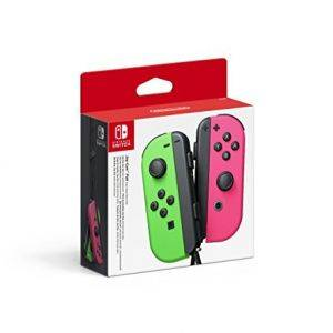 Paire de Joy-Con vert neon et rose neon NINTENDO Switch