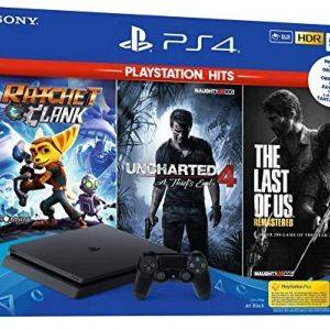 Pack PS4 Slim 500 Go + The Last Of Us + Ratchet & Clank + Uncharted 4