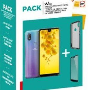 Pack Smartphone Wiko VIEW 2 Cosmos + Coque + Protection écran