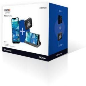 Pack Nokia 7.1 bleu + Etui Muvit + Enceinte JBL Go 2