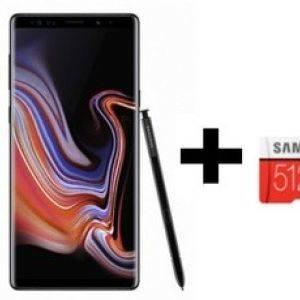 Samsung Galaxy Note 9 noir 512 Go + SD 512 Go