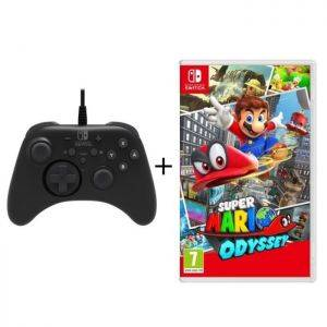 Super Mario Odyssey + Manette Pro Hori Nintendo Switch