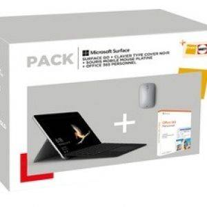 Pack Microsoft Surface Go8 Go 128 Go + Clavier cover + Souris + Office 365