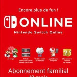 Abonnement familial 12 mois Nintendo Switch Online