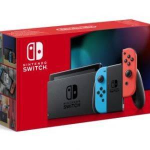 Nintendo Switch avec une paire de Joy-Con Neon Rouge et Bleu 2019