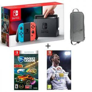 Pack Nintendo Switch Neon + Fifa 18 + Rocket League + Housse